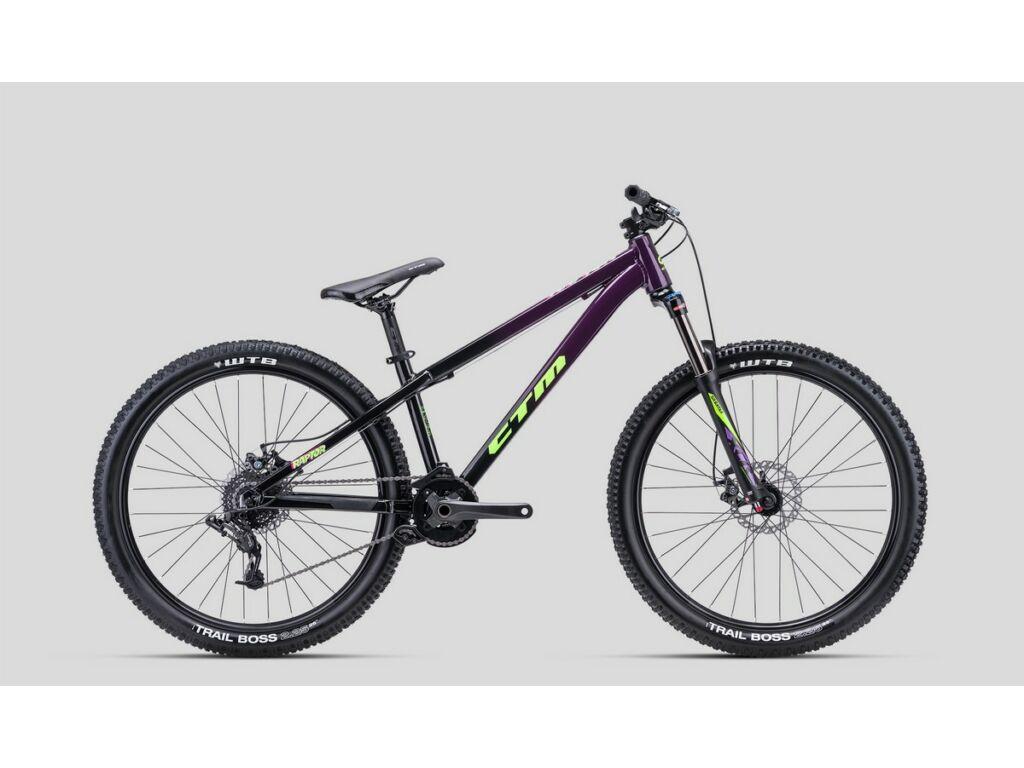 CTM Raptor 1.0 dirt kerékpár, gyöngyház fekete / lila