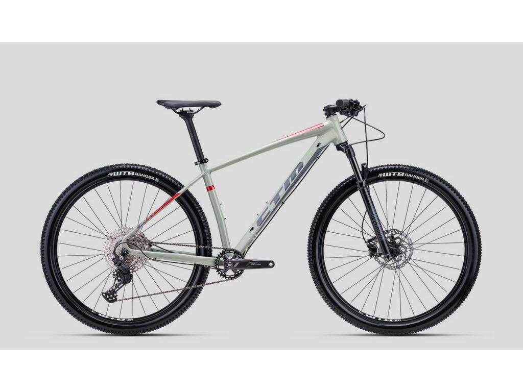 """CTM Rascal 1.0 29"""" MTB kerékpár, világosszürke / piros"""