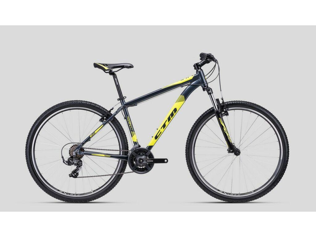 """CTM Rein 1.0 29"""" MTB kerékpár, acélszürke / sárga"""