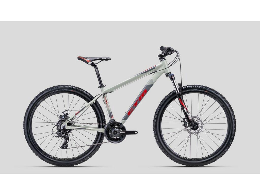 """CTM Rein 2.0 27.5"""" MTB kerékpár, világosszürke / szürke / piros"""