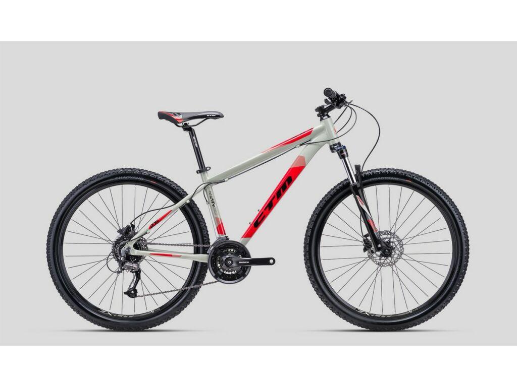 """CTM Rein 3.0 27.5"""" MTB kerékpár, világosszürke / piros"""