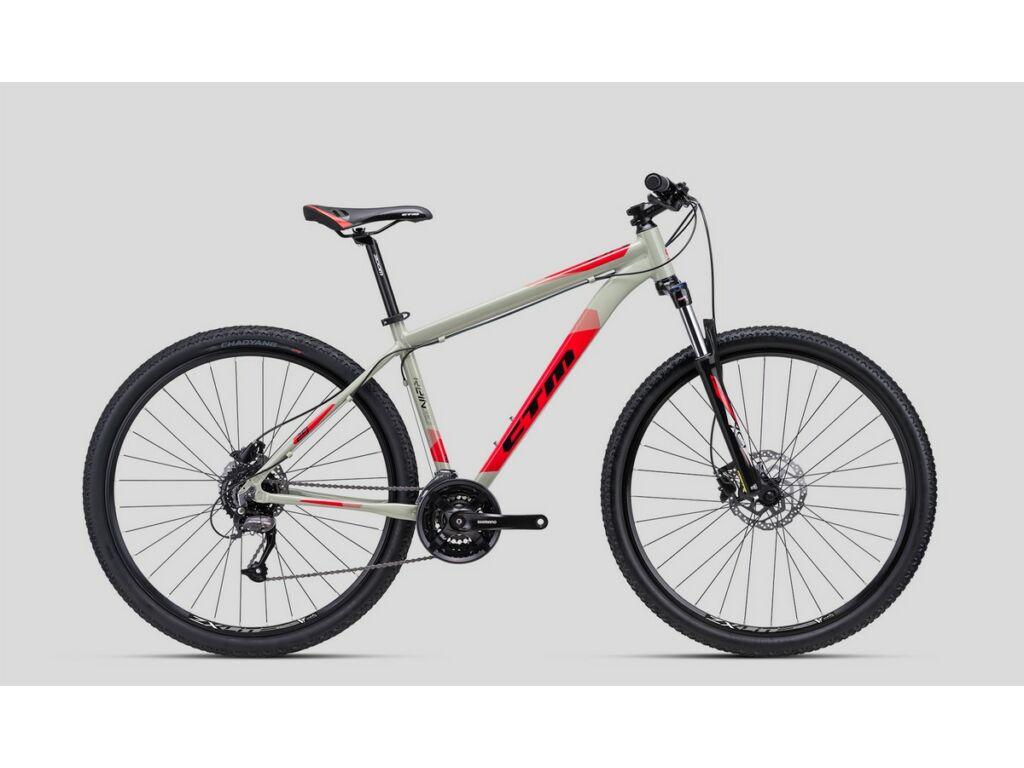 """CTM Rein 3.0 29"""" MTB kerékpár, világosszürke / piros"""