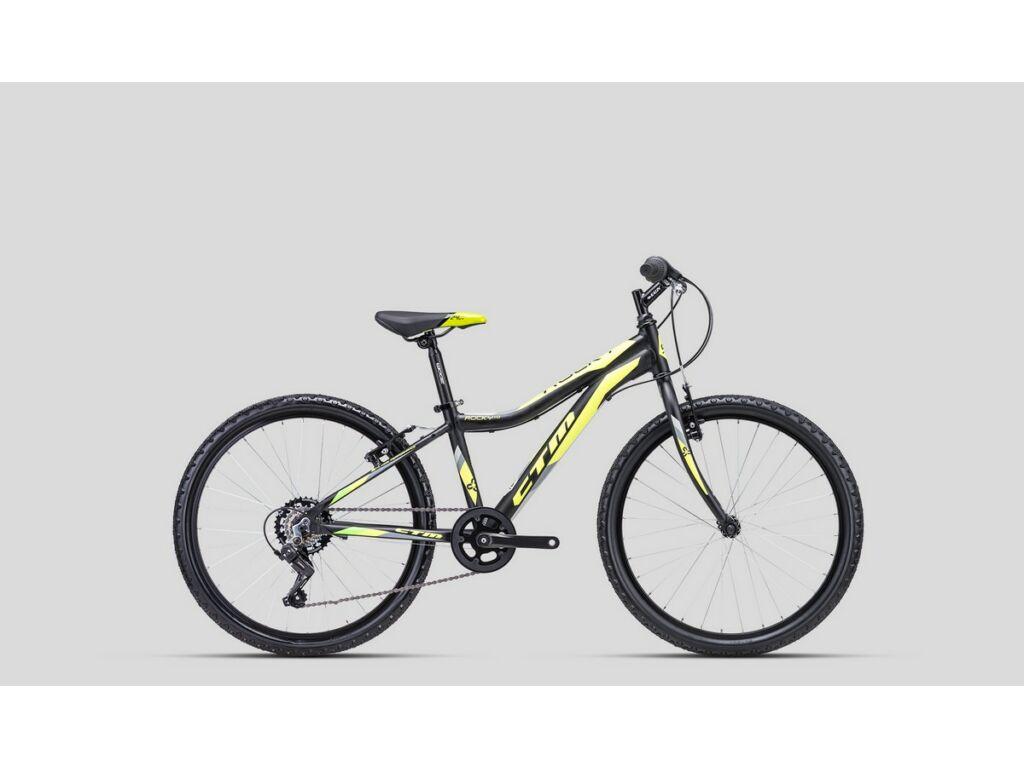 """CTM Rocky 1.0 24"""" gyermekkerékpár, matt fekete / sárga"""