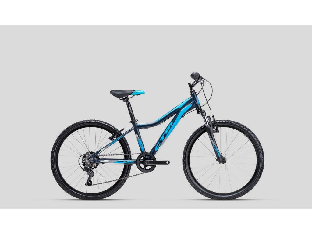 """CTM Rocky 2.0 24"""" gyermekkerékpár, matt petroleum / világoskék"""