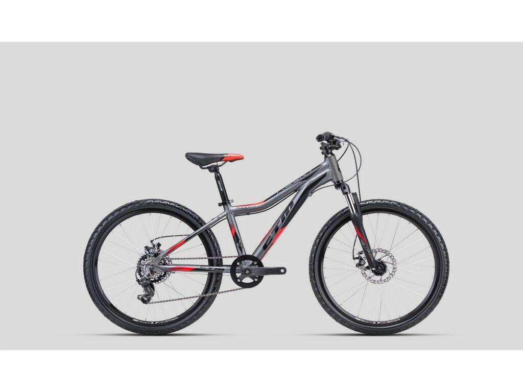 """CTM Rocky 3.0 24"""" gyermekkerékpár, matt szürke / piros"""