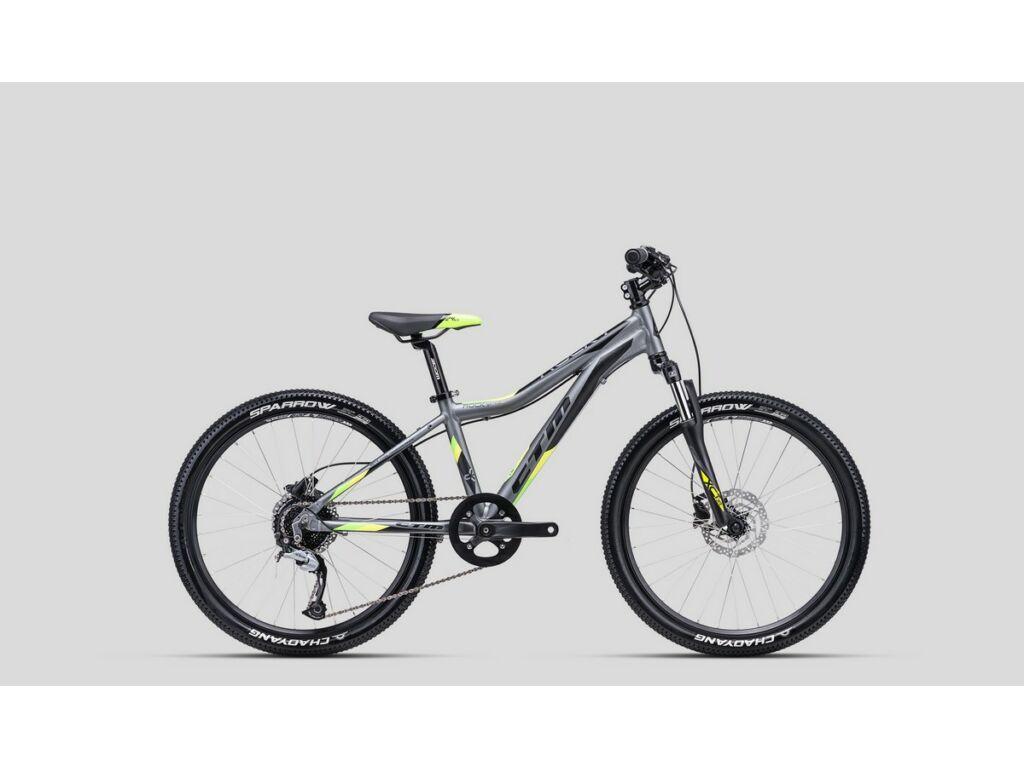 """CTM Rocky 4.0 24"""" gyermekkerékpár, matt szürke / lime"""