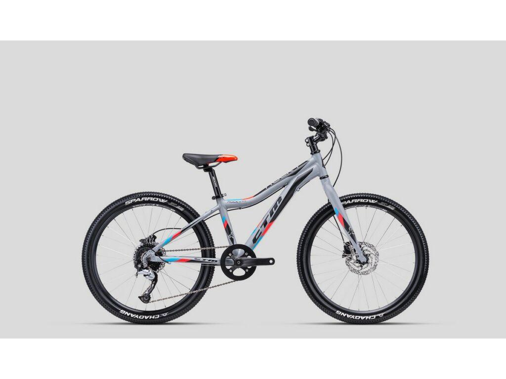 """CTM Rocky 5.0 24"""" gyermekkerékpár, matt szürke / kék / piros"""