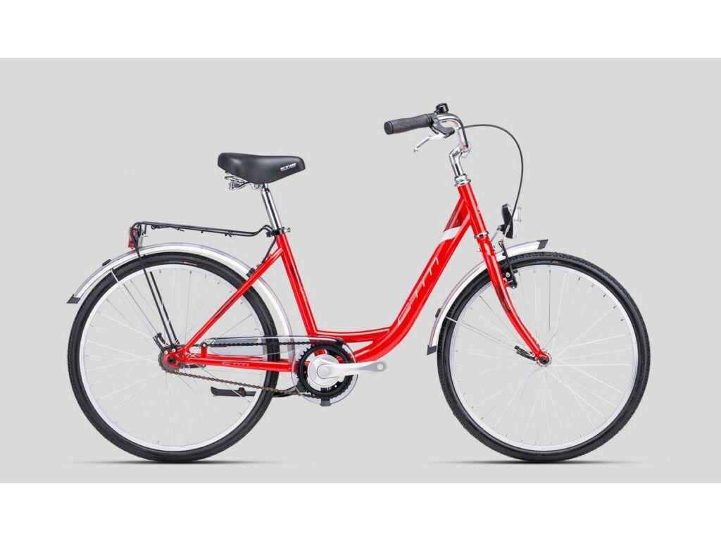 """CTM Sandra 24"""" női városi kerékpár, piros / ezüst"""