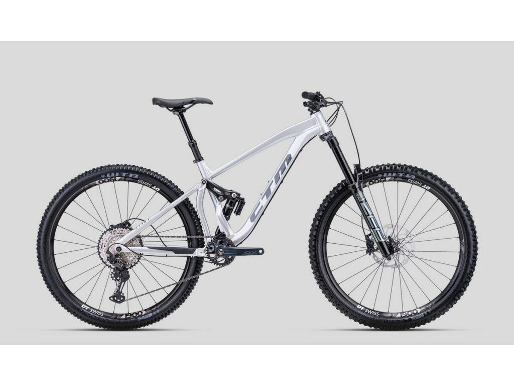"""CTM Scroll Pro 29"""" MTB enduro fully kerékpár, fényes ezüst"""