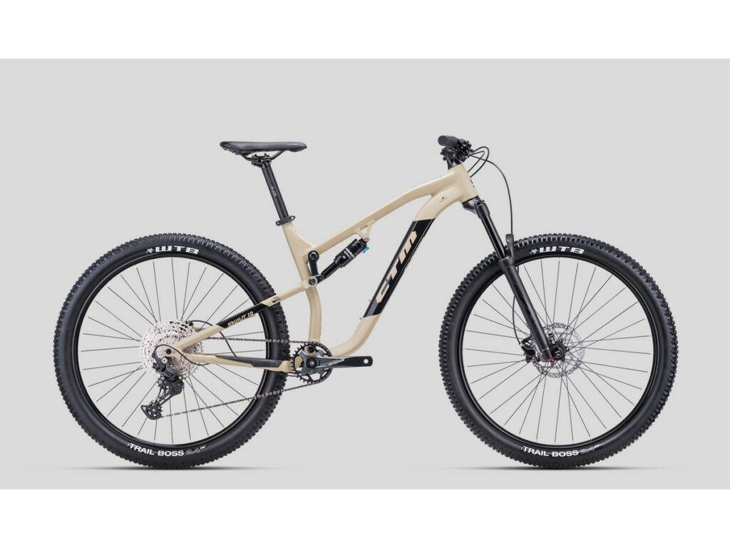 """CTM Scout 1.0 29"""" MTB trail fully kerékpár, matt homokszín / fényes fekete, M"""