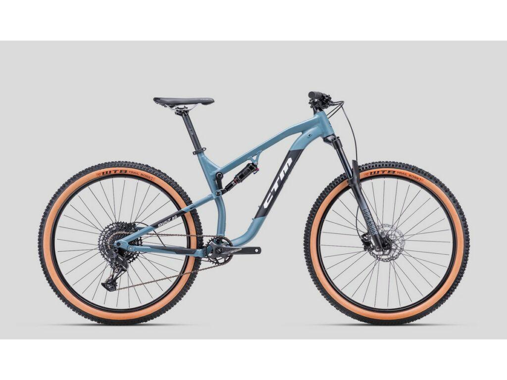 """CTM Scout 2.0 29"""" MTB trail fully kerékpár, matt acélkék / fekete, M"""