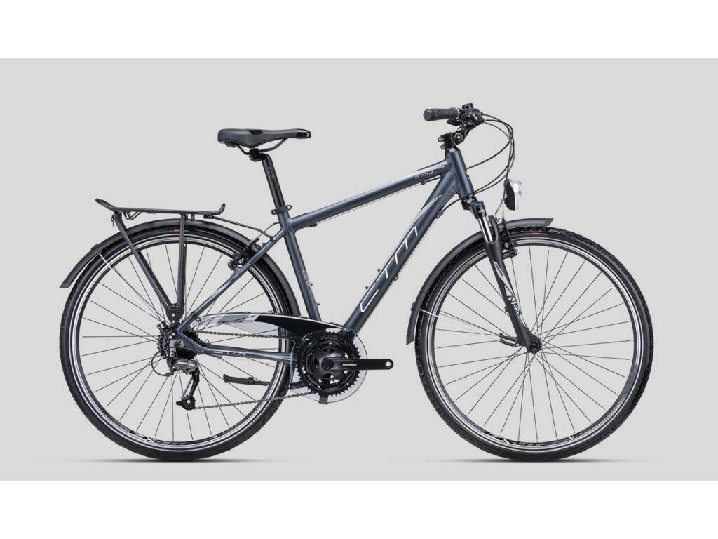 """CTM Stamp 1.0 28"""" férfi városi kerékpár, matt szürke / ezüst"""
