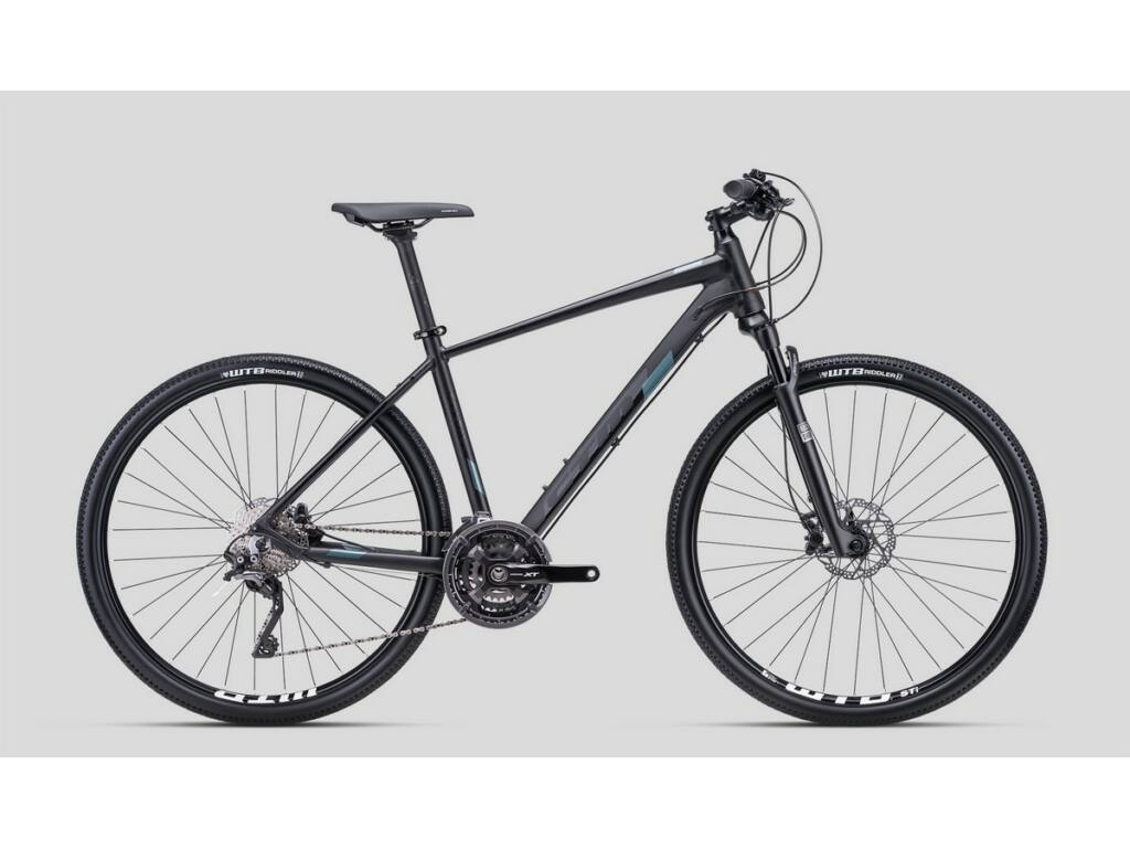 """CTM Stark 4.0 28"""" cross trekking kerékpár, matt fekete / szürkészöld"""