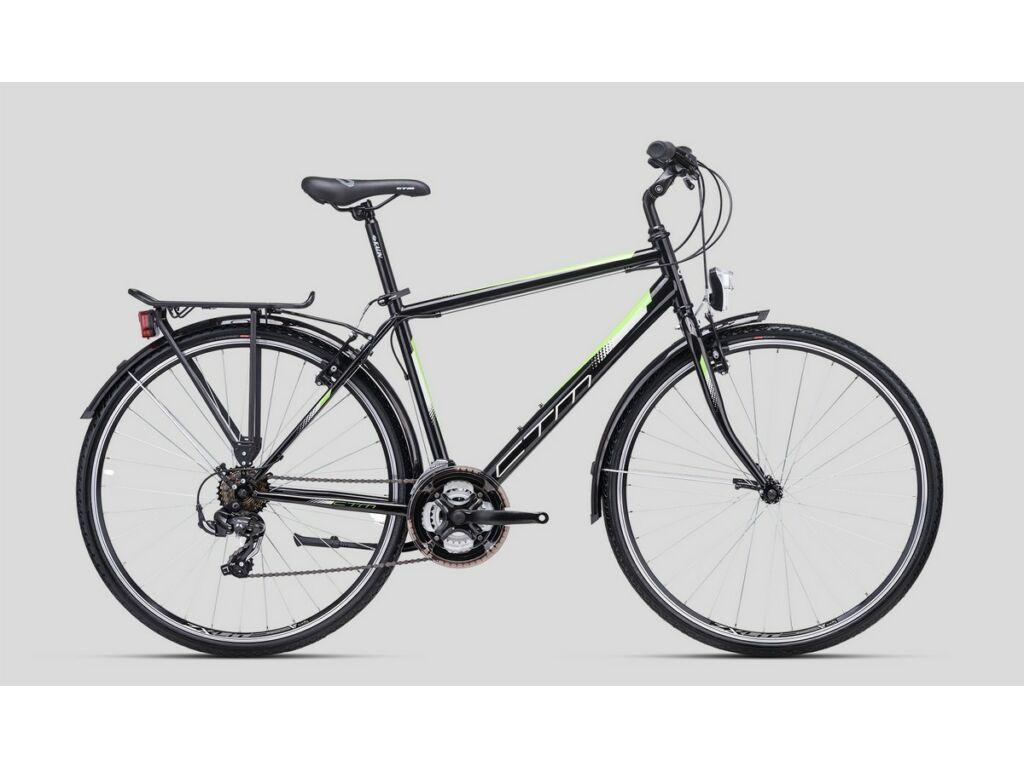 """CTM Storm 28"""" férfi városi kerékpár, matt fekete / zöld"""