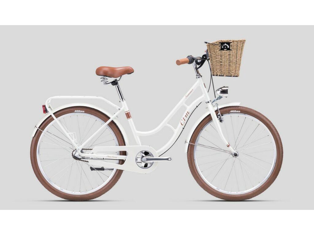 """CTM Summer 26"""" női városi kerékpár, gyöngyház fehér / barna"""