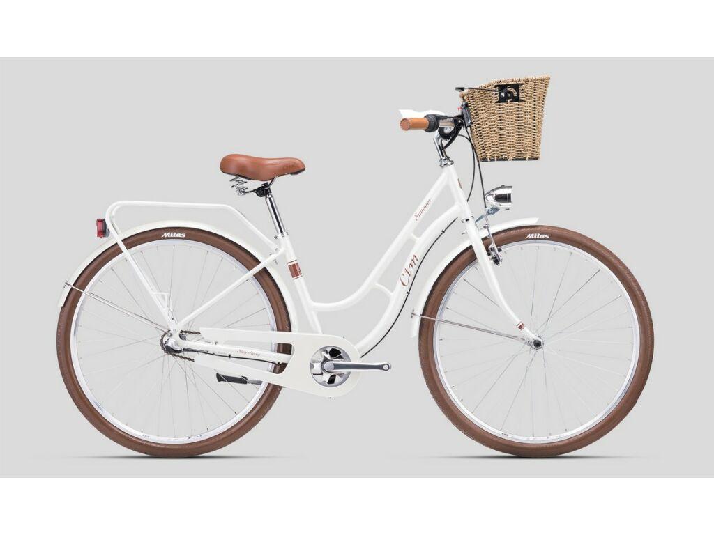 """CTM Summer 28"""" női városi kerékpár, gyöngyház fehér / barna"""
