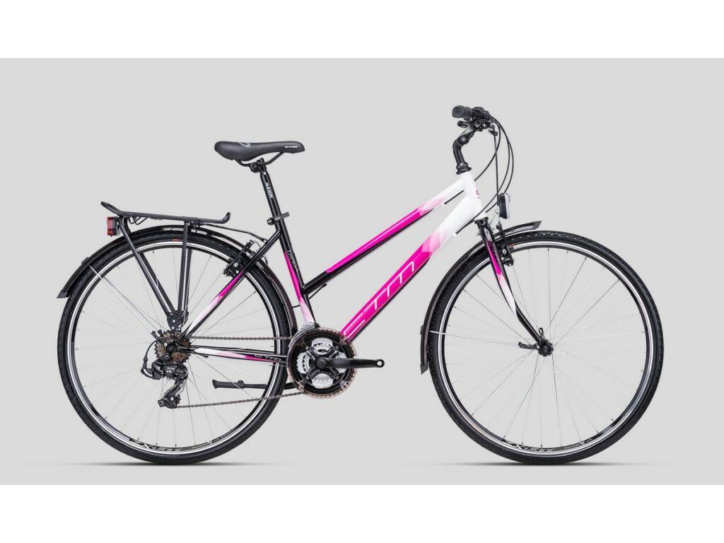 """CTM Targa 28"""" női városi kerékpár, fekete / pink"""