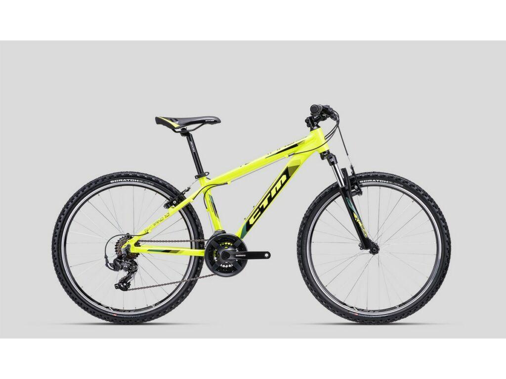 """CTM Terrano 1.0 26"""" MTB kerékpár, fluo sárga / fekete"""