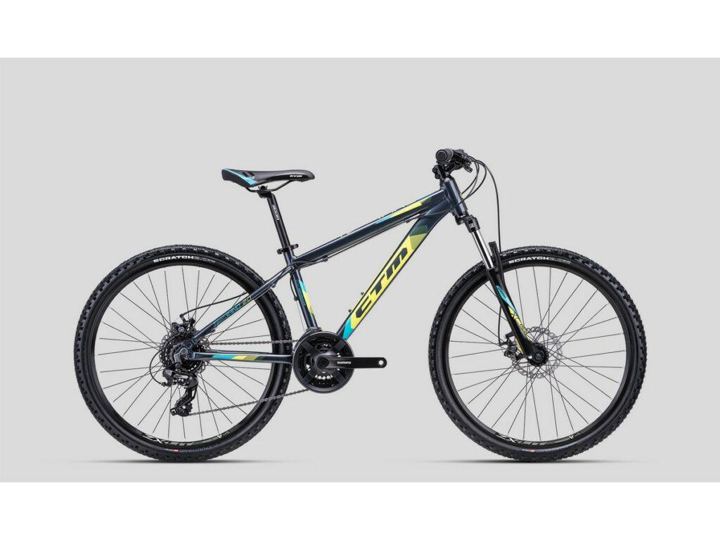 """CTM Terrano 2.0 26"""" MTB kerékpár, titánszürke / sárga / kék"""