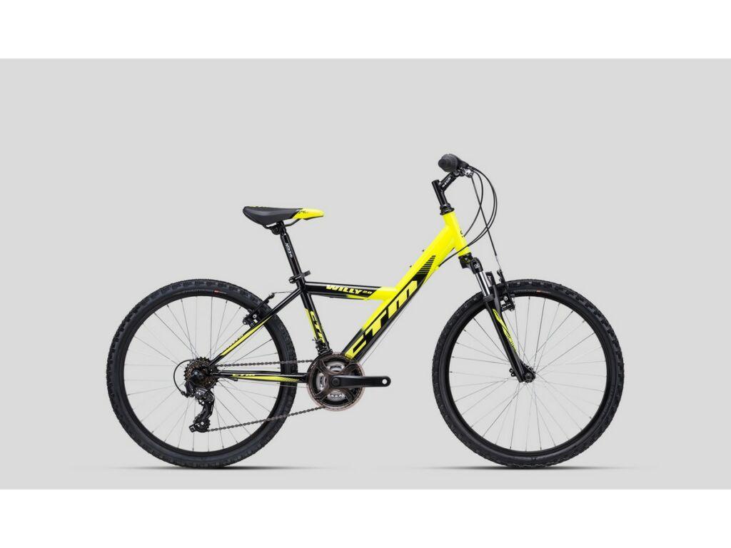"""CTM Willy 2.0 24"""" fiú gyermekkerékpár, fekete / sárga"""