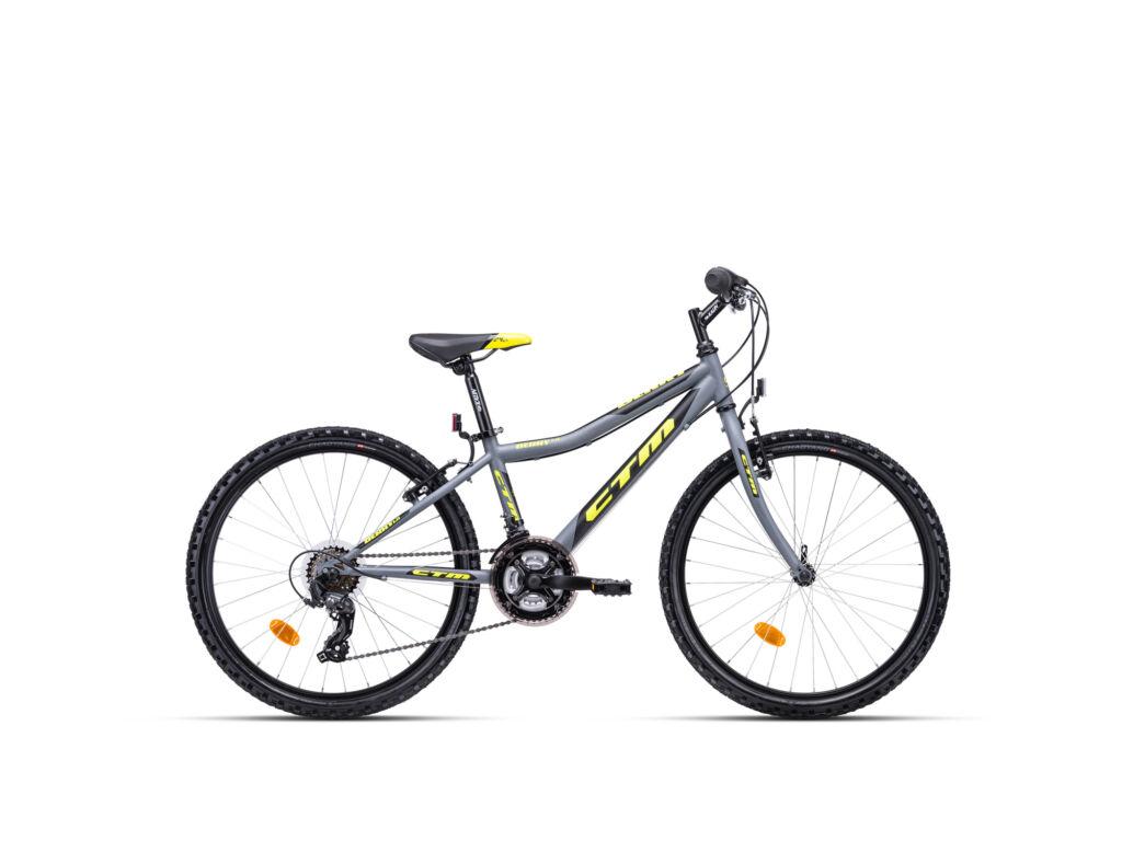 """CTM BERRY 1.0 13"""" fiú gyermekkerékpár, matt szürke / sárga"""