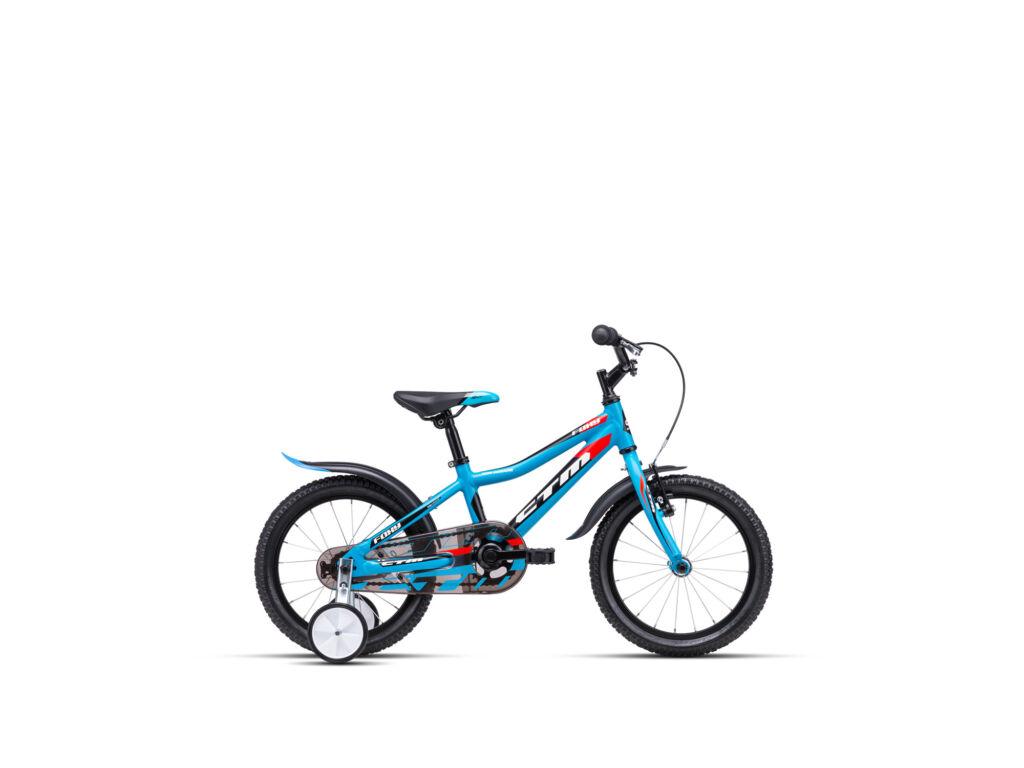 """CTM FOXY 8"""" fiú gyermekkerékpár, matt kék / piros"""