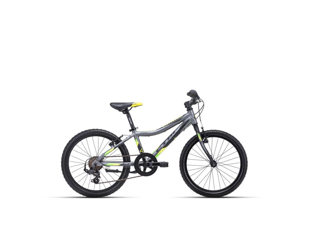 """CTM JERRY 1.0 11"""" fiú gyermekkerékpár, matt szürke / lime"""
