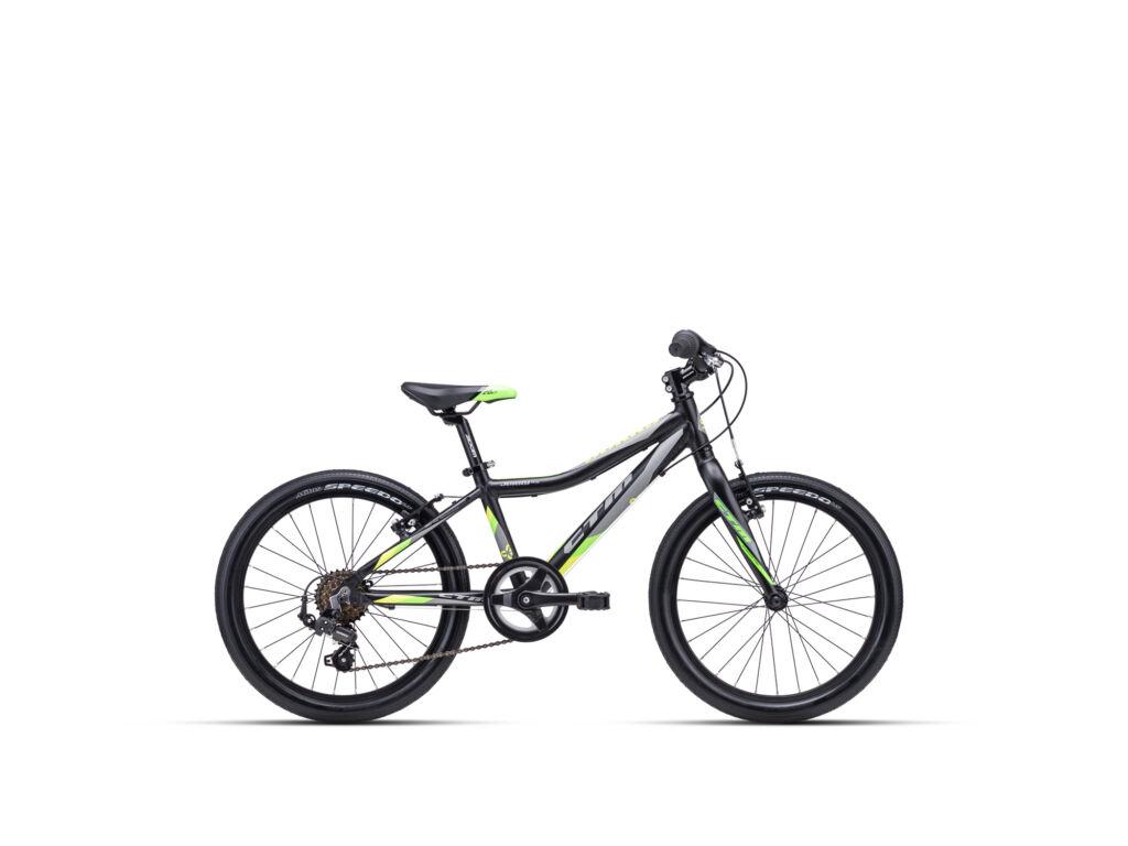 """CTM JERRY 3.0 11"""" fiú gyermekkerékpár, matt fekete / zöld"""
