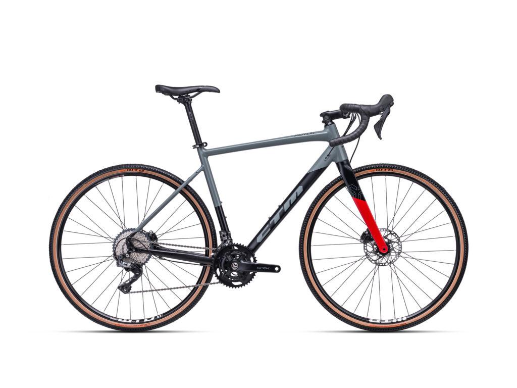 CTM KOYUK 3.0 gravel kerékpár, szürke / piros