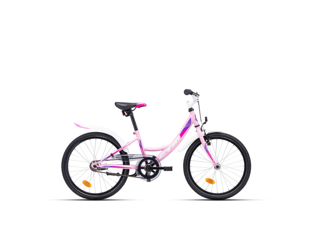 """CTM MAGGIE 1.0 11"""" lány gyermekkerékpár, rószaszín / lila"""