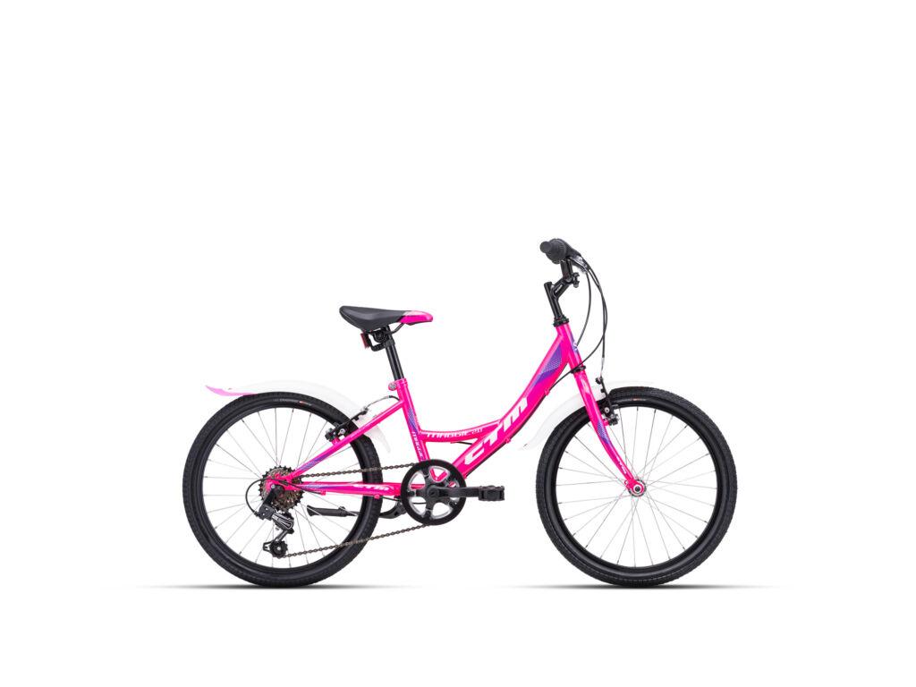 """CTM MAGGIE 2.0 11"""" lány gyermekkerékpár, pink / lila"""