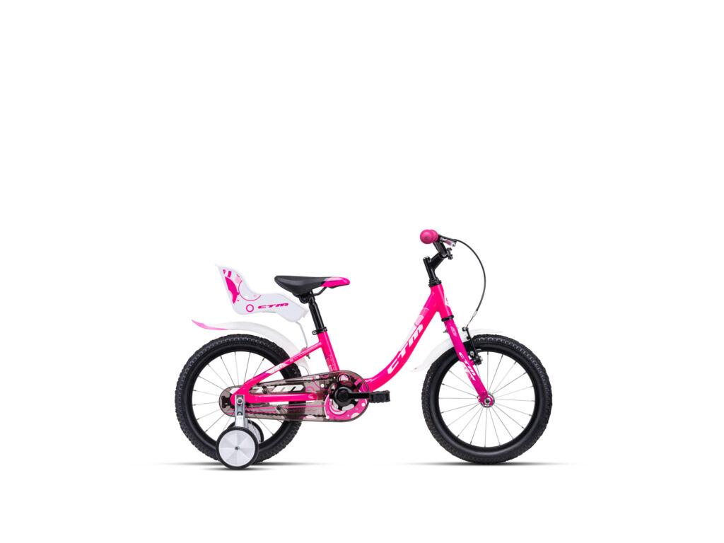 """CTM MARRY 8"""" lány gyermekkerékpár, matt pink / fehér"""