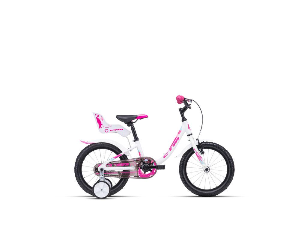 """CTM MARRY 8"""" lány gyermekkerékpár, matt fehér / pink"""