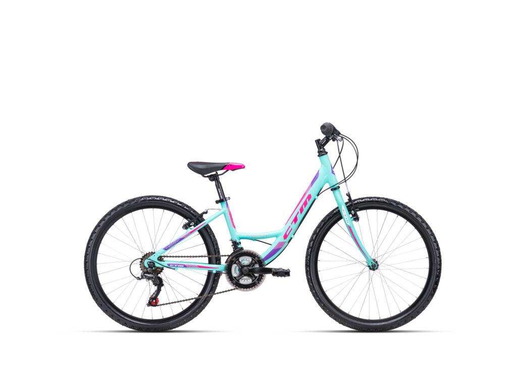 """CTM MISSY 13"""" lány gyermekkerékpár, matt menta / pink"""