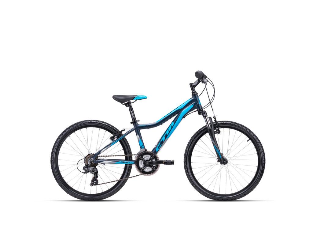 """CTM ROCKY 2.0 13"""" gyermekkerékpár, matt fekete / világoskék"""