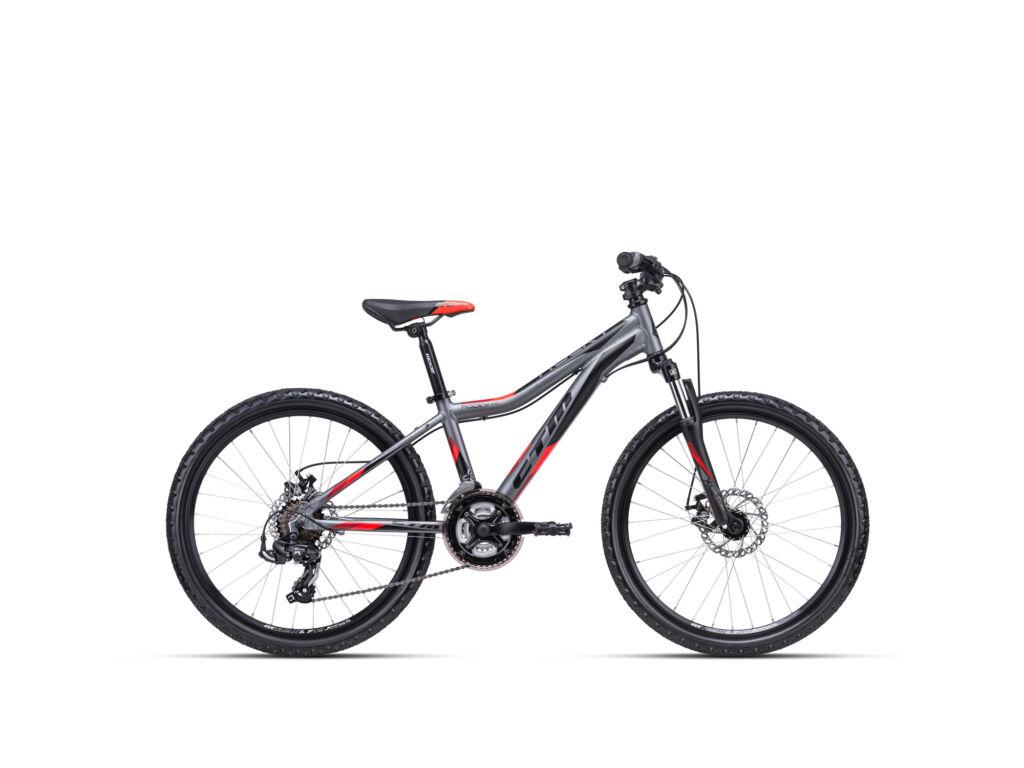 """CTM ROCKY 3.0 13"""" gyermekkerékpár, matt szürke / piros"""