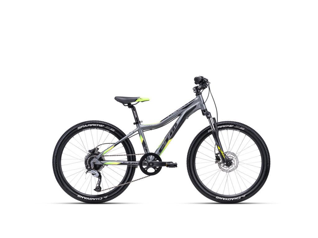 """CTM ROCKY 4.0 13"""" gyermekkerékpár, matt szürke / lime"""