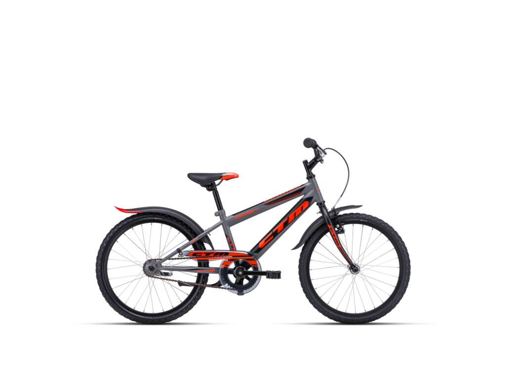 """CTM SCOOBY 1.0 11"""" fiú gyermekkerékpár, matt szürke / narancs"""