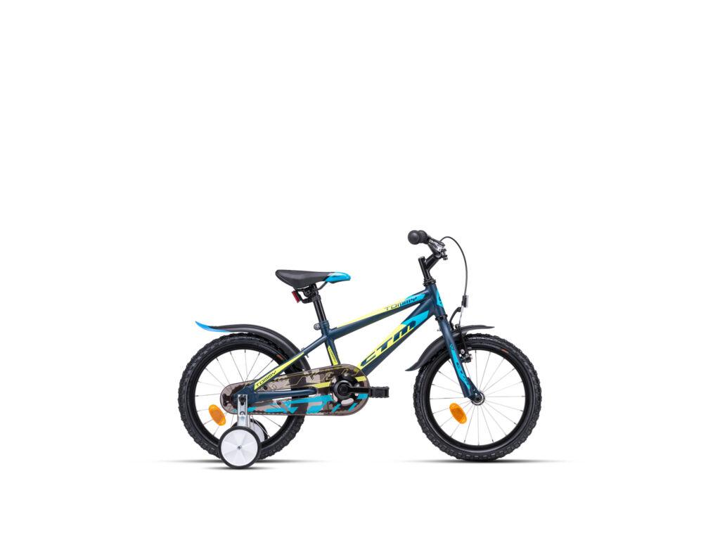 """CTM TOMMY 8"""" fiú gyermekkerékpár, matt fekete / sárga"""