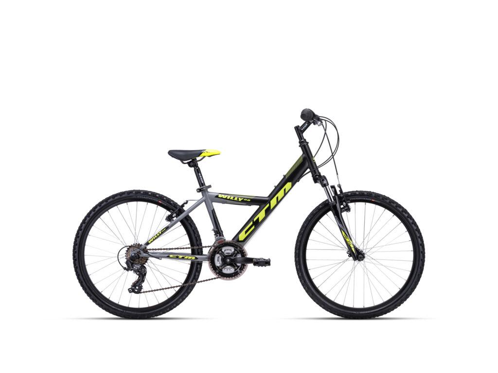 """CTM WILLY 2.0 14"""" fiú gyermekkerékpár, matt szürke / sárga"""