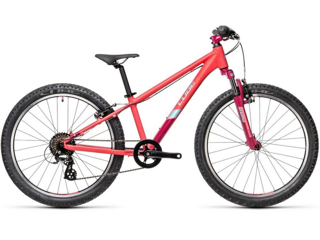 """Cube Acid 240 2021 24"""" gyermek MTB kerékpár, coral'n'mint"""