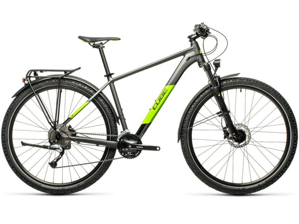 """Cube Aim SL Allroad 2021 27.5"""" MTB hardtail kerékpár, grey'n'green"""