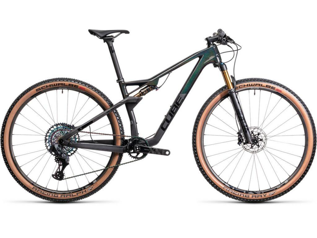 """Cube AMS 100 C:68 SLT 29 2021 29"""" MTB fully kerékpár, carbon'n'prizmblack"""