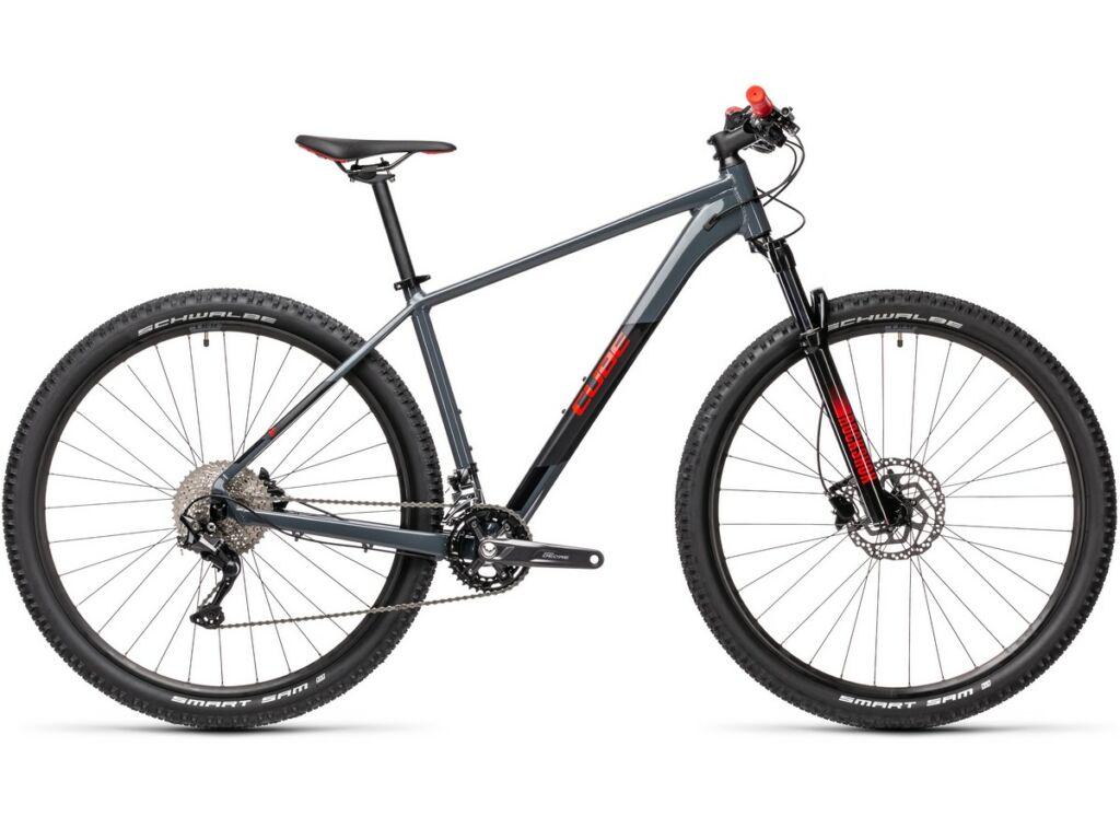 "Cube Attention 2021 27.5"" MTB hardtail kerékpár, grey'n'red"