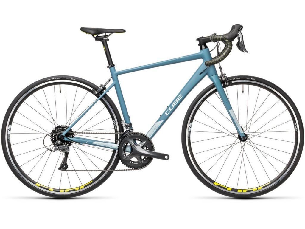 """Cube Axial WS 2021 28"""" női országúti kerékpár, greyblue'n'lime"""