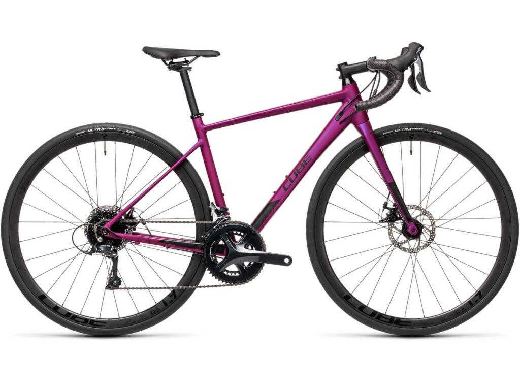 """Cube Axial WS Pro 2021 28"""" női országúti kerékpár, purple'n'black"""