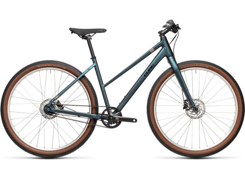 """CUBE Hyde Pro 2021 Trapeze 29"""" női fitness kerékpár, deepblue'n'silver"""