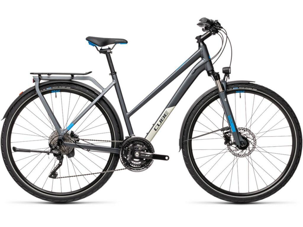 Cube Kathmandu EXC 2021 Trapeze női túra kerékpár, grey'n'blue