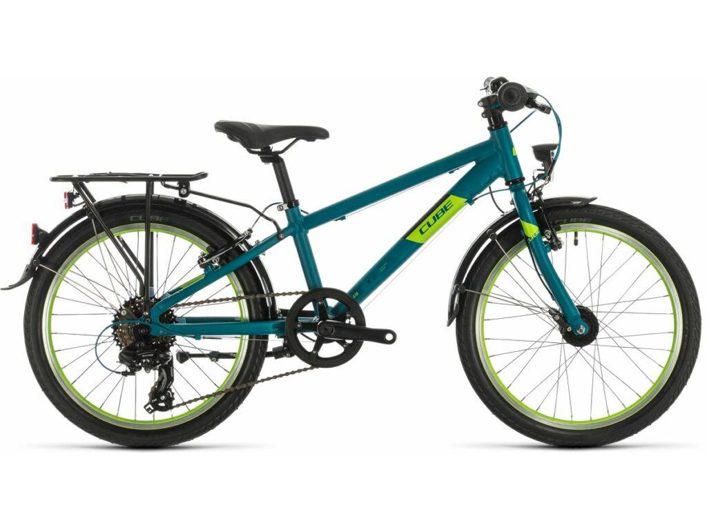 """Cube Kid 200 Street 2020 20"""" gyermek trekking kerékpár, petrol'n'green"""