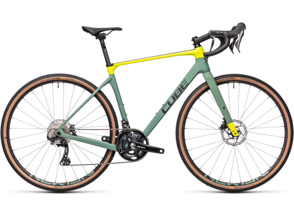 Cube Nuroad C:62 Race 2021 gravel kerékpár, green'n'lime